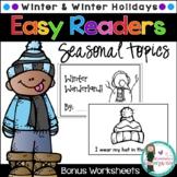 Easy Readers! Winter & Winter Holidays. Pre-K & Kindergarten {No Prep}
