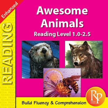 Easy Reading Awesome Animals - Enhanced