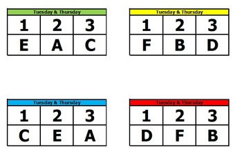 Easy Reading Center Rotation Chart with Cards and Student List