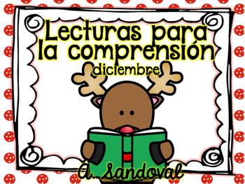 Easy Reading Comprehension DECEMBER  in Spanish comprensión