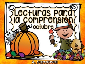 Easy Reading Comprehension OCTOBER  in Spanish comprensión