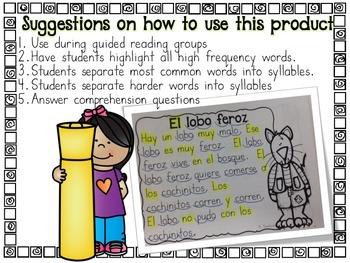 Easy Reading Comprehension OCTOBER  in Spanish comprensión