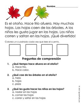 Smart image inside free printable spanish reading comprehension worksheets