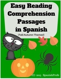 Free Easy Reading Comprehension Passages in Spanish (Fall) Gratis