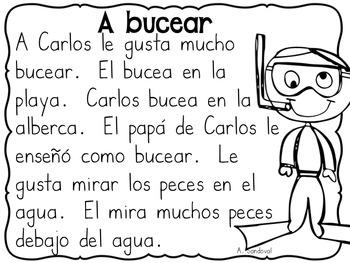 Easy Reading Comprehension SUMMER in Spanish comprensión de verano