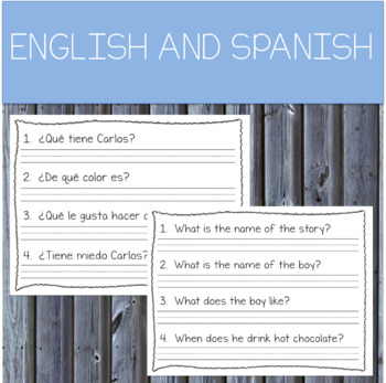 Easy Reading Comprehension WINTER in English and Spanish