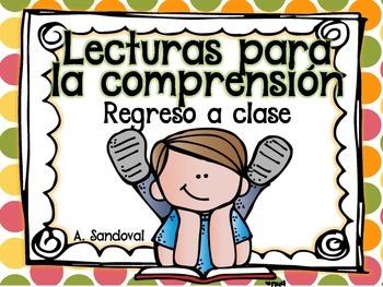 Easy Reading Comprehension in Spanish BACK TO SCHOOL comprensión