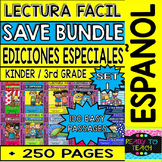 Back to School Easy Reading For Reading Comprehension in Spanish Bundle - Set 1