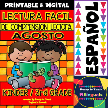 Easy Reading for Reading Comprehension in Spanish - August Set