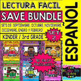 Back to school Easy Reading for Reading Comprehension in Spanish - Bundle Set 2