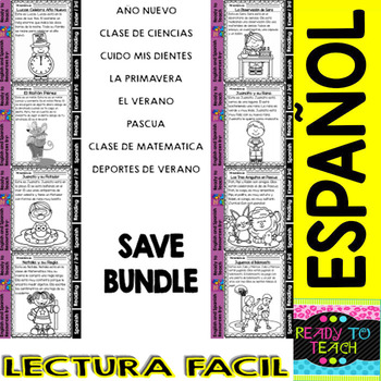 Easy Reading for Reading Comprehension in Spanish - Bundle Set 4