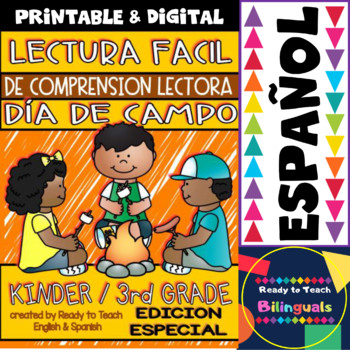 Easy Reading for Reading Comprehension in Spanish - Camping Day