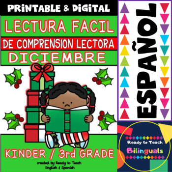 Easy Reading for Reading Comprehension in Spanish - December Set