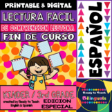 Easy Reading for Reading Comprehension in Spanish - End of Year