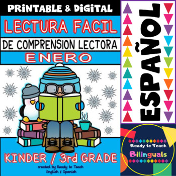 Easy Reading for Reading Comprehension in Spanish - January Set