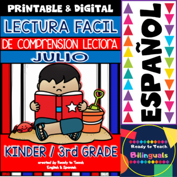 Easy Reading for Reading Comprehension in Spanish - July Set