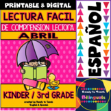 Easy Reading for Reading Comprehension in Spanish - April Set