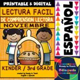 Easy Reading for Reading Comprehension in Spanish - November Set
