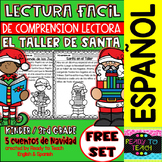 Easy Reading for Reading Comprehension in Spanish - Santa´s Workshop-Free Set
