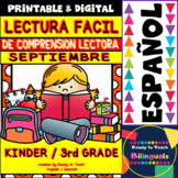 Back to School Easy Reading for Reading Comprehension in Spanish - September Set