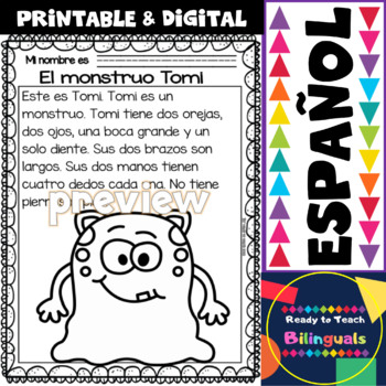 Easy Reading for Reading Comprehension in Spanish - spec. edit. - Monsters