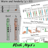Recorder Music With Letters - Gently Sleep