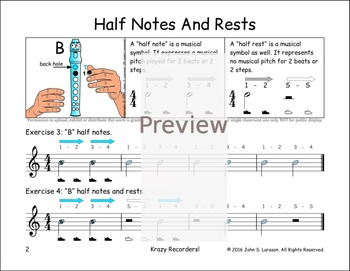"Easy Note Value Lessons - ""B"" Notes Rests and Hot Cross Buns"