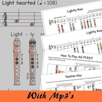 Easy Recorder - Lightly Row - Digital Print