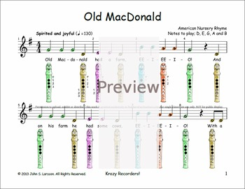 Easy Recorder - Old MacDonald