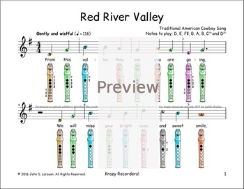 Easy Recorder - Red River Valley - Digital Print