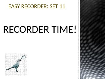 Easy Recorder Songs: Set 11