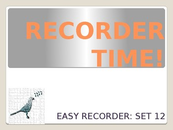 Easy Recorder Songs: Set 12