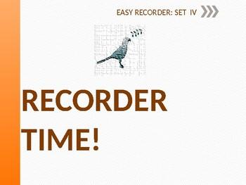 Easy Recorder Songs: Set 4