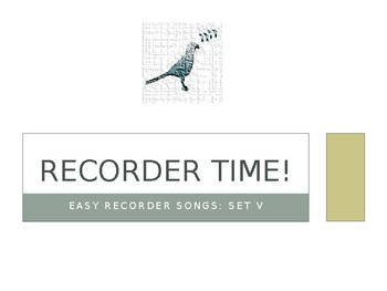 Easy Recorder Songs: Set 5