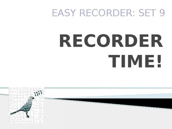 Easy Recorder Songs: Set 9