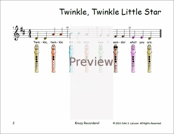 Easy Recorder - Twinkle Twinkle Little Star