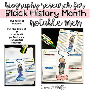 Easy Research Project for Black History Month- Notable African American Men