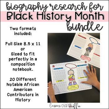Easy Research Project for Black History Month- Notable Contributors Bundle