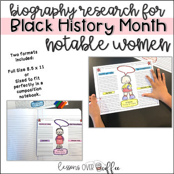 Easy Research Project for Black History Month- Notable Women