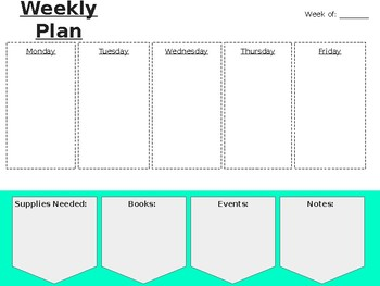 Easy Reusable Weekly Planner!