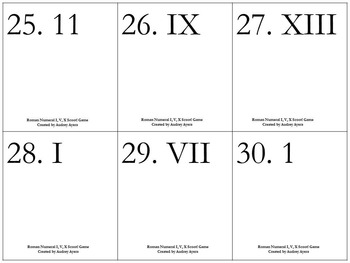 Easy Roman Numerals Scoot! Game - Review, Assessment, Activity, Fun!