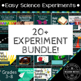 Easy Science Experiments BUNDLE - 20 Engaging Activities
