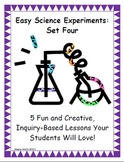 Easy Science Experiments:  Set Four - Scientific Method, Earth/Space, Geology