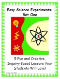 Easy Science Experiments:  Set  One - Scientific Method, Earth/Space, Geology