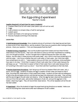 """Easy Science Experiments:  The """"Egg-citing Egg-speriment"""""""