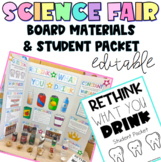 Easy Science Fair Project: Rethink What you Drink Board Materials & Student Pack