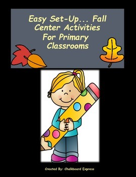 Easy Set Up Fall Centers For Primary