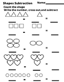 Easy Shapes Subtraction
