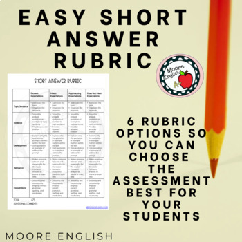 Easy Short Answer Rubric!