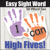 Easy Sight Word High Fives